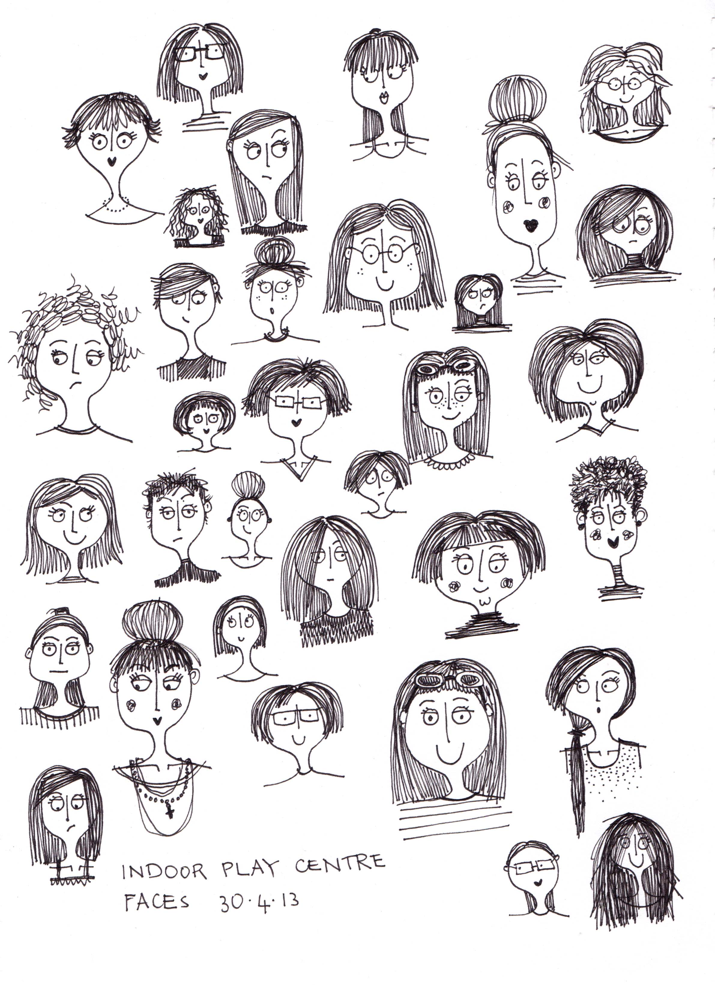 People i saw today for What to draw today