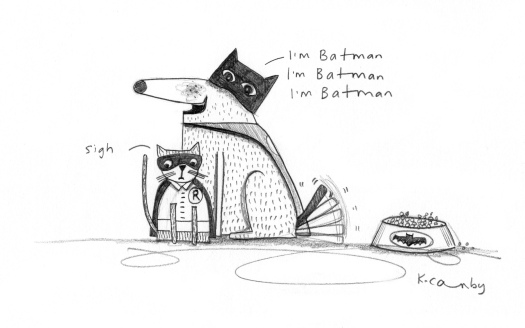 Batman dog Robin catKellyCanby